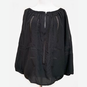 Vince Black Silk Blouse Top